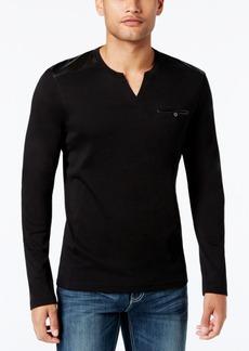 INC I.n.c. Men's Collude Split-Neck Shirt, Created for Macy's