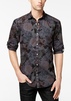 INC I.n.c. Men's Dark Floral-Print Shirt, Created for Macy's