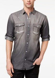 INC I.n.c. Men's Destroyed Denim Utility Shirt, Created for Macy's