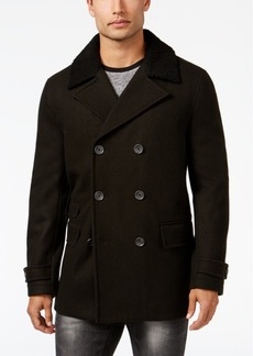INC I.n.c. Men's Double-Breasted Pea Coat, Created for Macy's