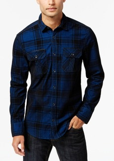 INC I.n.c. Men's Dual-Pocket Plaid Shirt, Created for Macy's