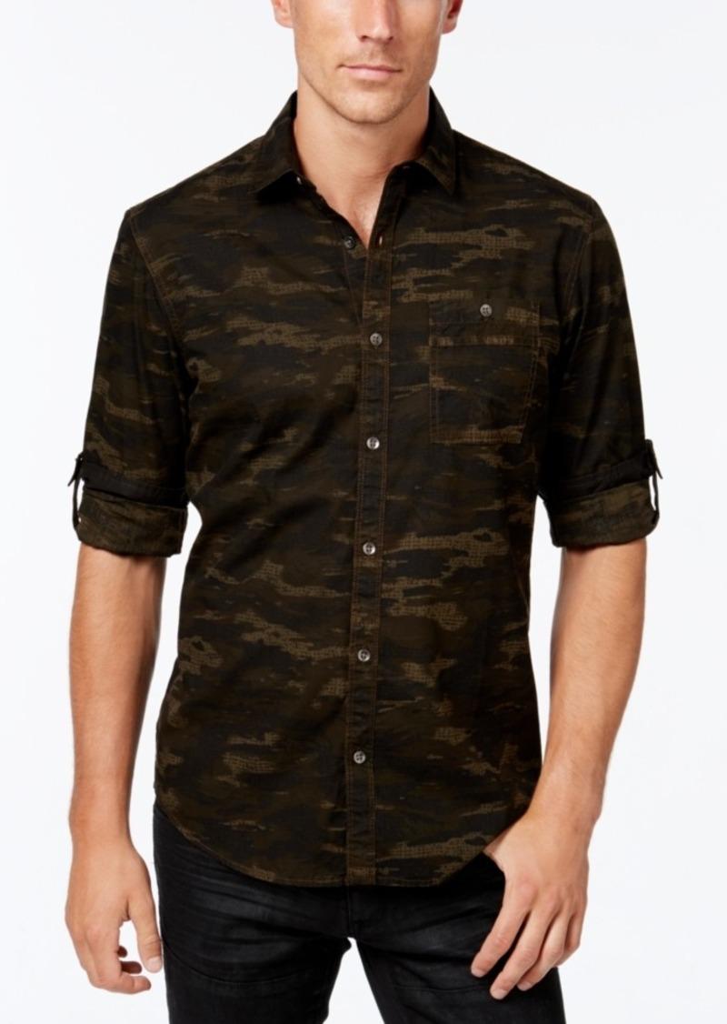 Inc International Concepts Men's Duncan Poplin Camo Long-Sleeve Shirt, Created for Macy's