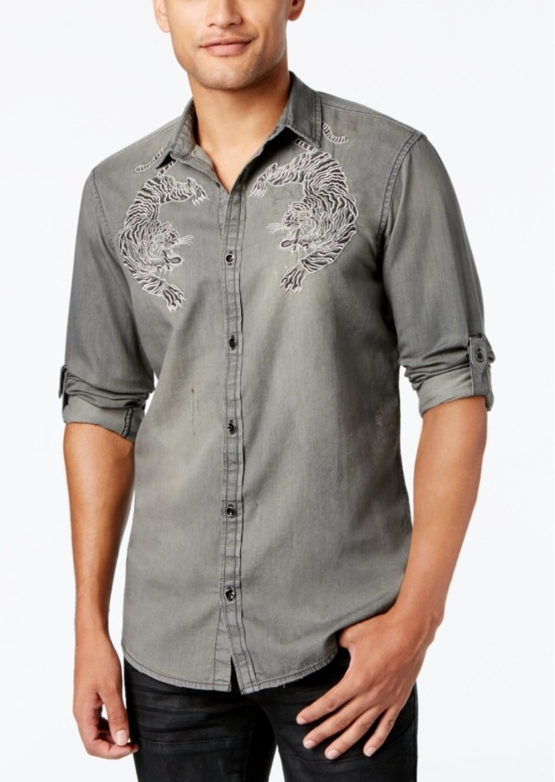 INC Inc International Concepts Men s Embroidered Bengal Tiger Shirt ... 7b0c926b1