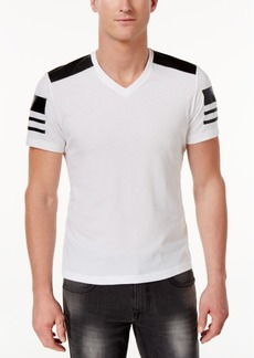 INC I.n.c. Men's Faux-Leather Pieced T-Shirt, Created for Macy's