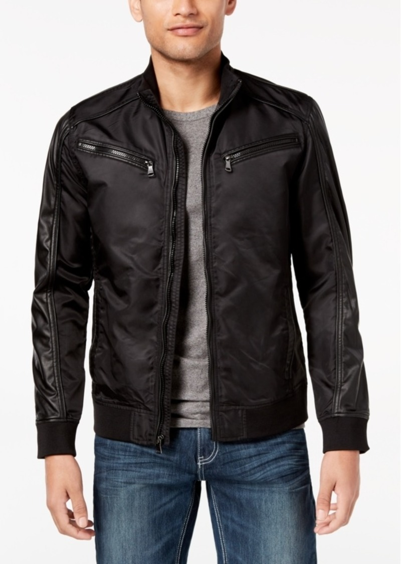 4b280fd2d I.n.c. Men's Faux Leather Trim Bomber Jacket, Created for Macy's