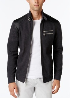 INC I.n.c. Men's Fire Knit Moto Jacket, Created for Macy's