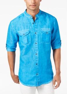 INC I.n.c. Men's Garment Dye Linen Shirt, Created for Macy's