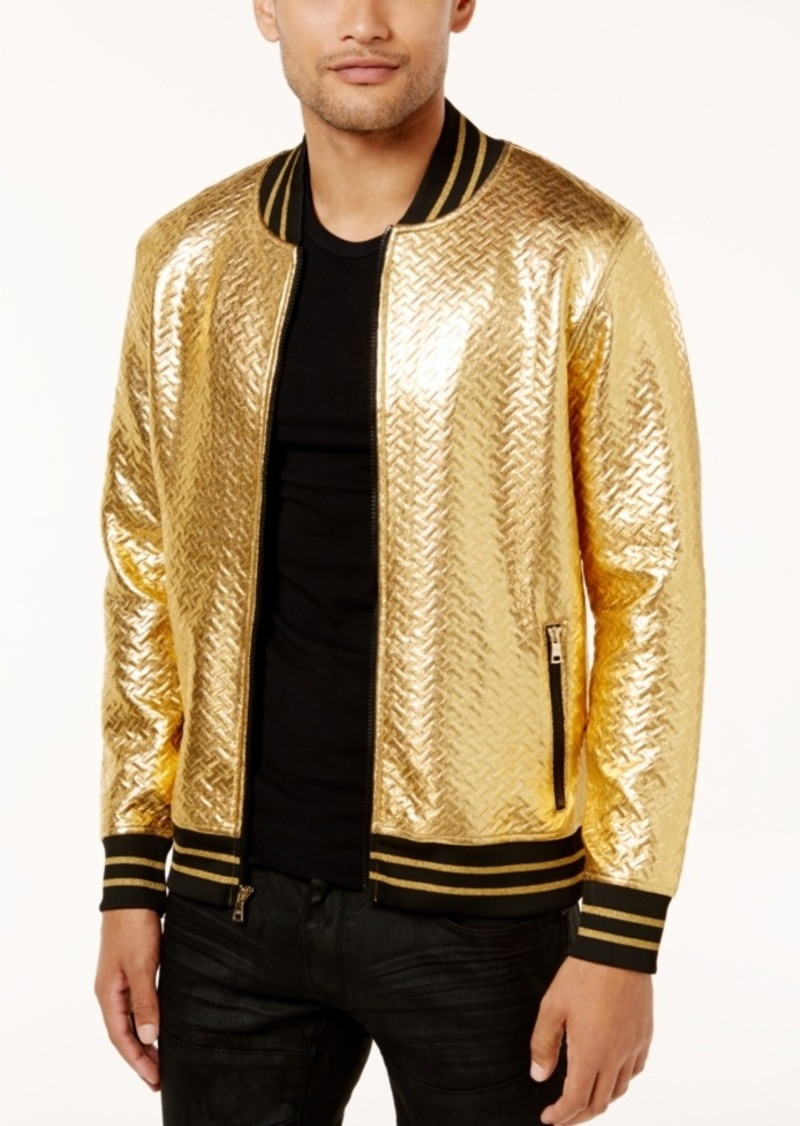 5e6cd5108 International Concepts Men's Gold Chevron Bomber Jacket, Created for Macy's