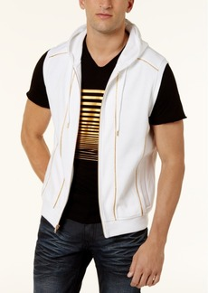 INC I.n.c. Men's Gold Piping Hooded Vest, Created for Macy's