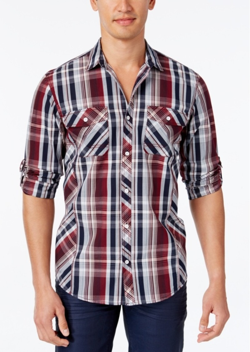 Inc International Concepts Men's Guanine Plaid Long-Sleeve Shirt, Only at Macy's