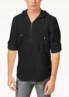 INC I.n.c. Men's Half-Zip Linen-Blend Hoodie, Created for Macy's