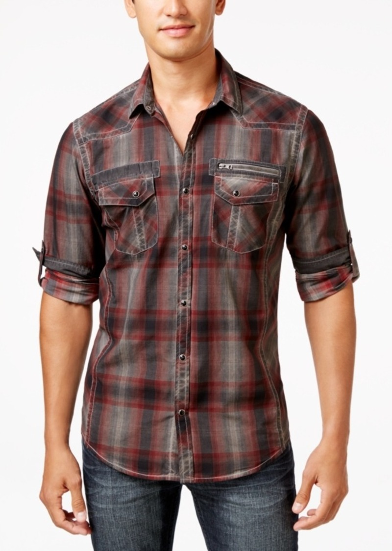 Inc International Concepts Men's Johnny Plaid Long-Sleeve Shirt, Only at Macy's