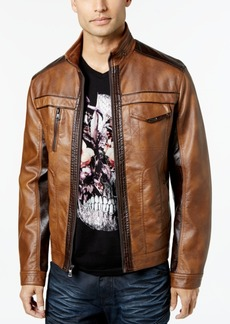 INC I.n.c. Men's Jones Two-Tone Faux-Leather Jacket, Created for Macy's