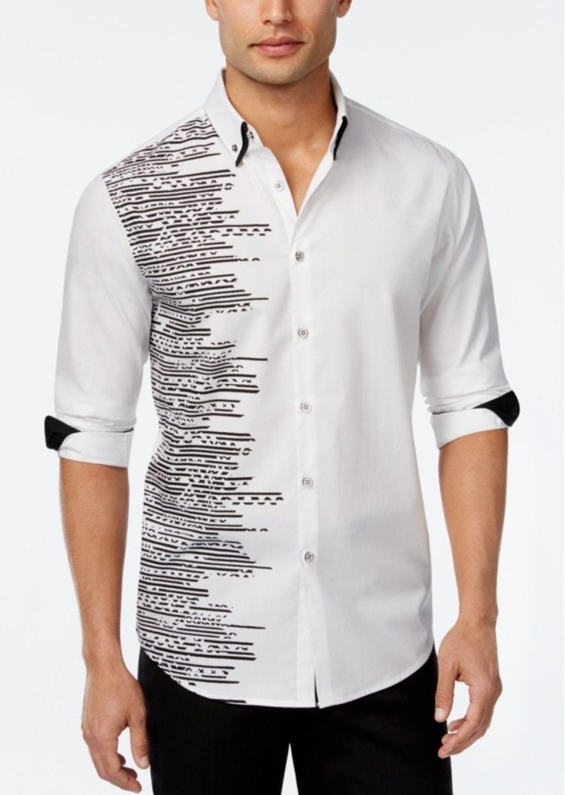 Inc International Concepts Men's Lateral Graphic-Print Long-Sleeve Shirt, Only at Macy's
