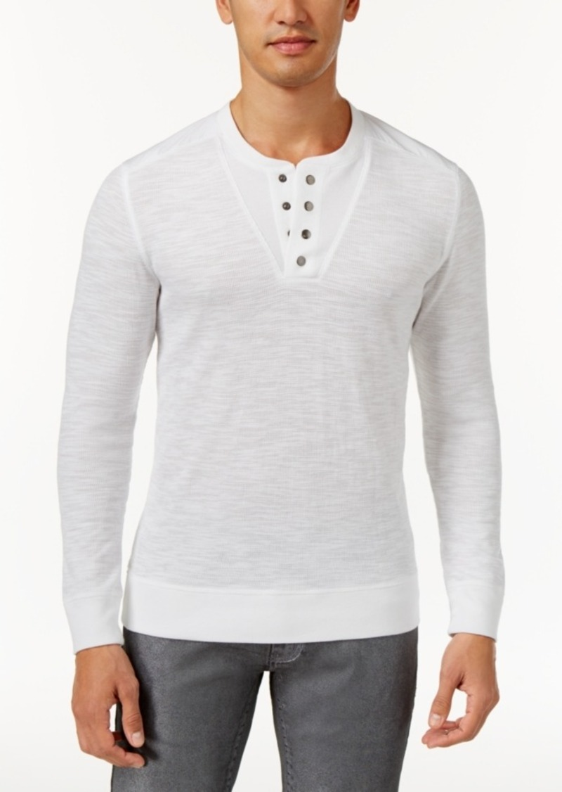 Inc International Concepts Men's Layered-Look Henley Sweater, Only at Macy's