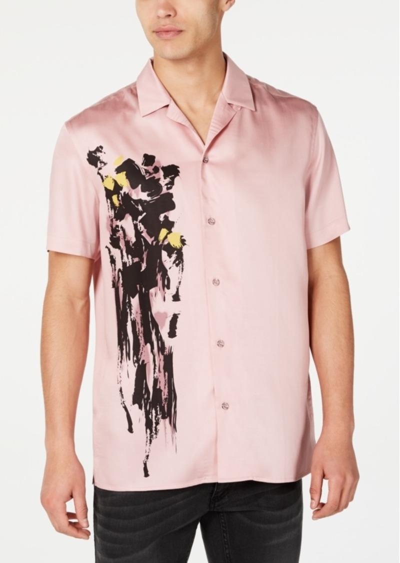 Inc International Concepts Men's Lex Abstract Print Short Sleeve Shirt