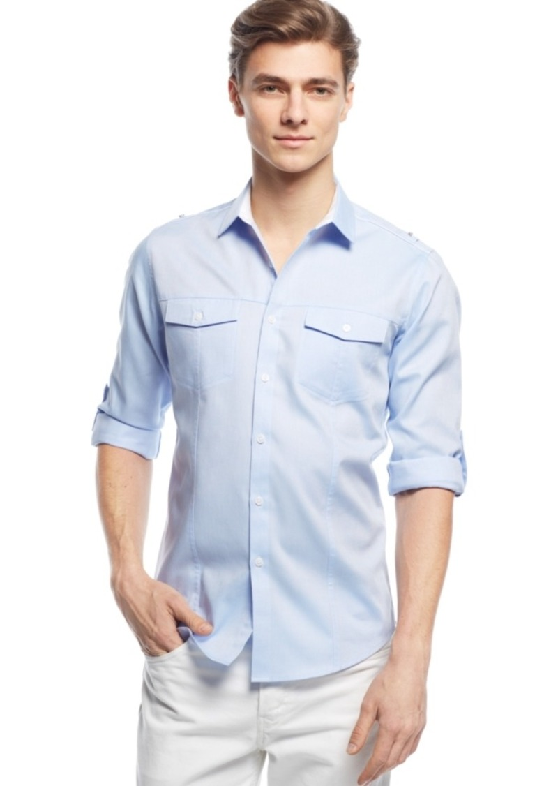Inc International Concepts Men's Liam Long-Sleeve Shirt, Only at Macy's