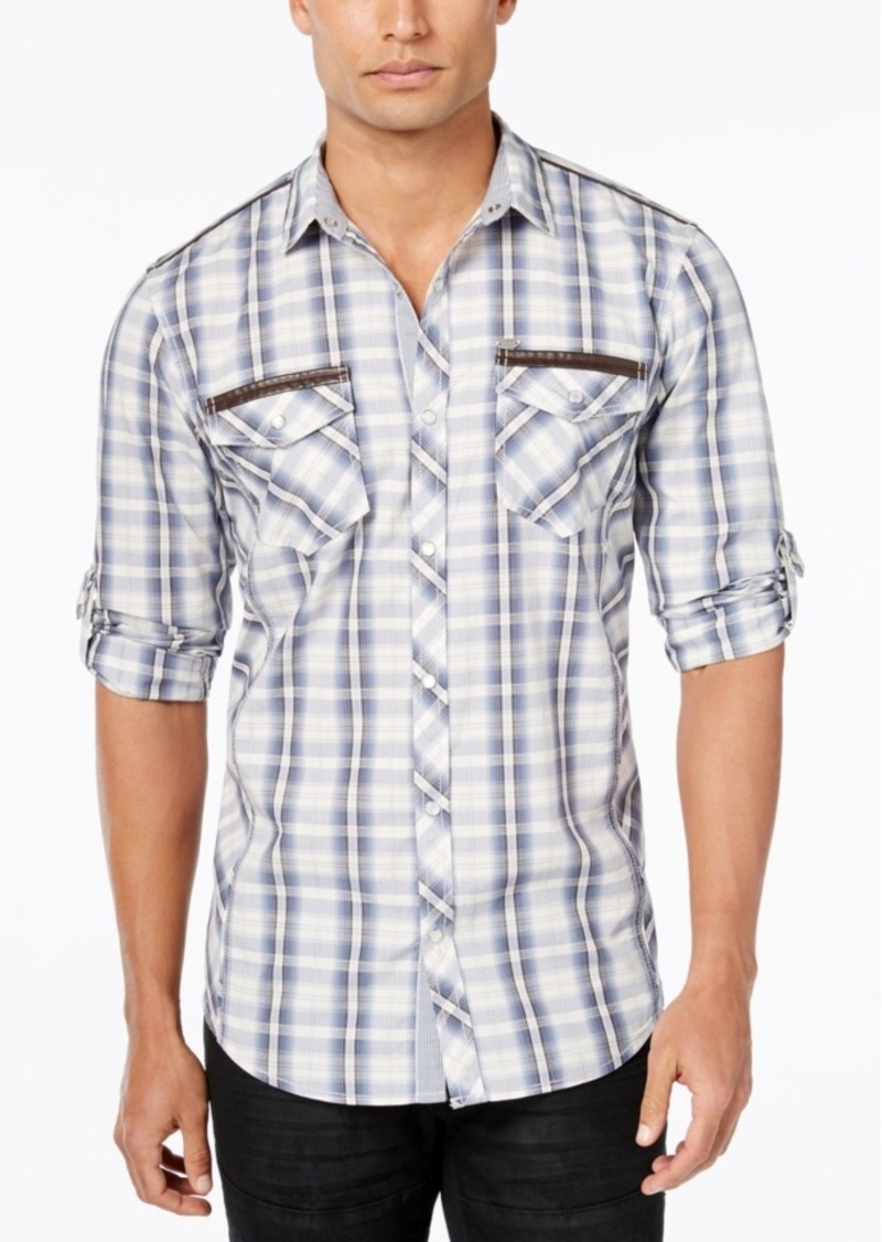 Inc International Concepts Men's Louis Plaid Long-Sleeve Shirt, Only at Macy's