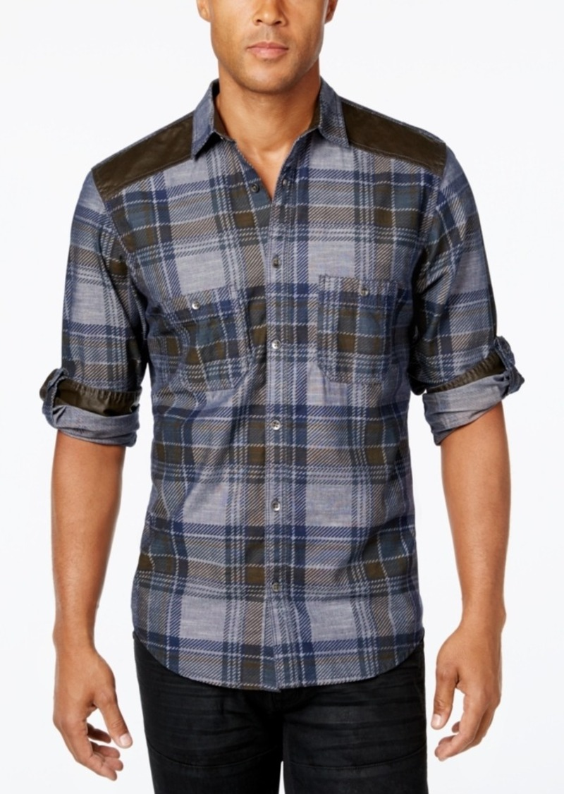 Inc International Concepts Men's Malcom Plaid Long-Sleeve Shirt, Only at Macy's