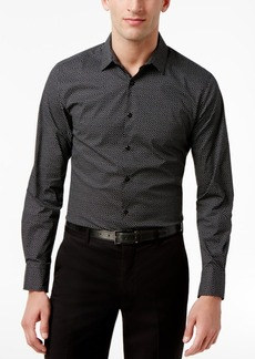 INC I.n.c. Men's Micro-Square Slimfit Stretch Shirt, Created for Macy's