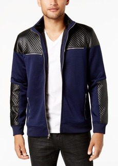 INC I.n.c. Men's Mixed-Media Faux Fur Lined Bomber Jacket, Created for Macy's