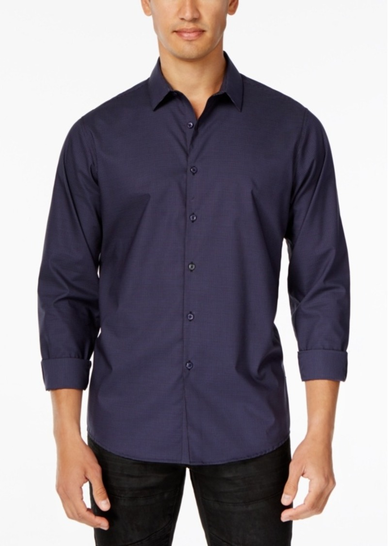 Inc International Concepts Men's Non-Iron Gingham Long-Sleeve Shirt, Only at Macy's