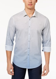 INC I.n.c. Men's Ombre Geometric Pattern Shirt, Created for Macy's
