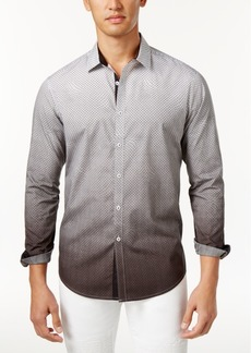 INC I.n.c. Men's Ombre Geometric Pattern Shirt, Created for Macy's