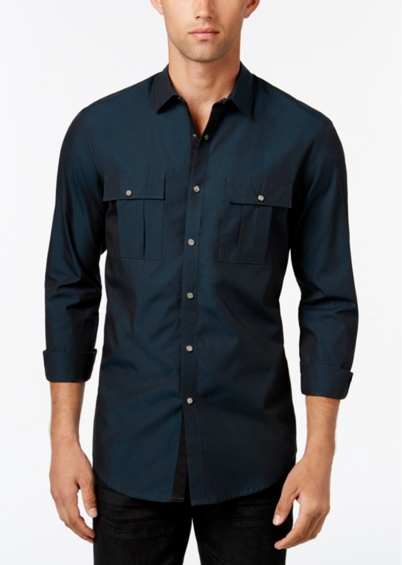 Inc International Concepts Men's Piesky Long-Sleeve Shirt, Only at Macy's