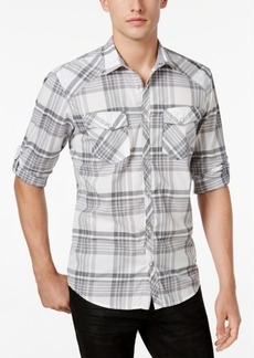INC I.n.c. Men's Plaid Shirt, Created for Macy's
