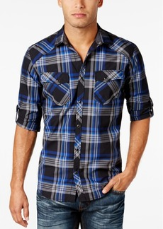 INC I.n.c. Men's Plaid Shirt, Created for Macy's