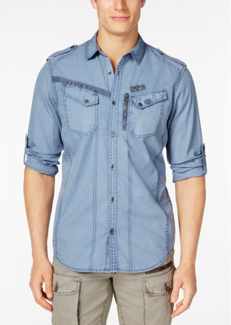 Inc International Concepts Men's Raptor Long-Sleeve Shirt, Only at Macy's