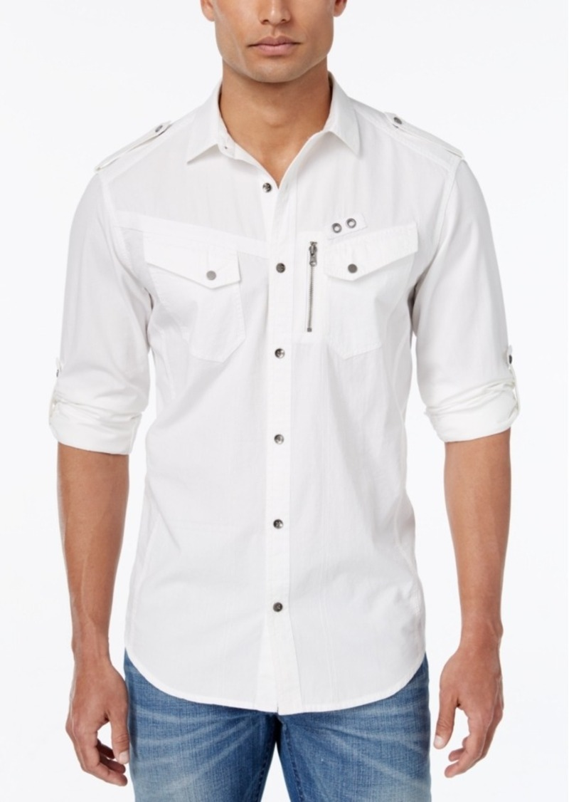 Inc International Concepts Men's Raptro Poplin Long-Sleeve Shirt, Only at Macy's
