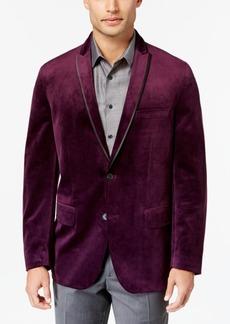 INC I.n.c. Men's Rex Classic-Fit Velvet Blazer, Created for Macy's