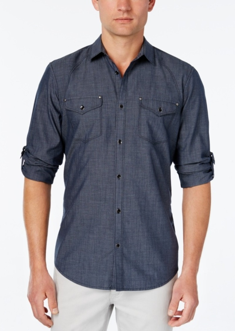Inc International Concepts Men's Rex Long-Sleeve Shirt, Only at Macy's