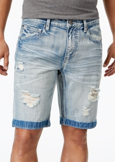 "INC I.n.c. Men's 11"" Ripped Light Wash Jean Shorts, Created for Macy's"