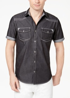 INC I.n.c. Men's Rodeo Denim Shirt, Created for Macy's