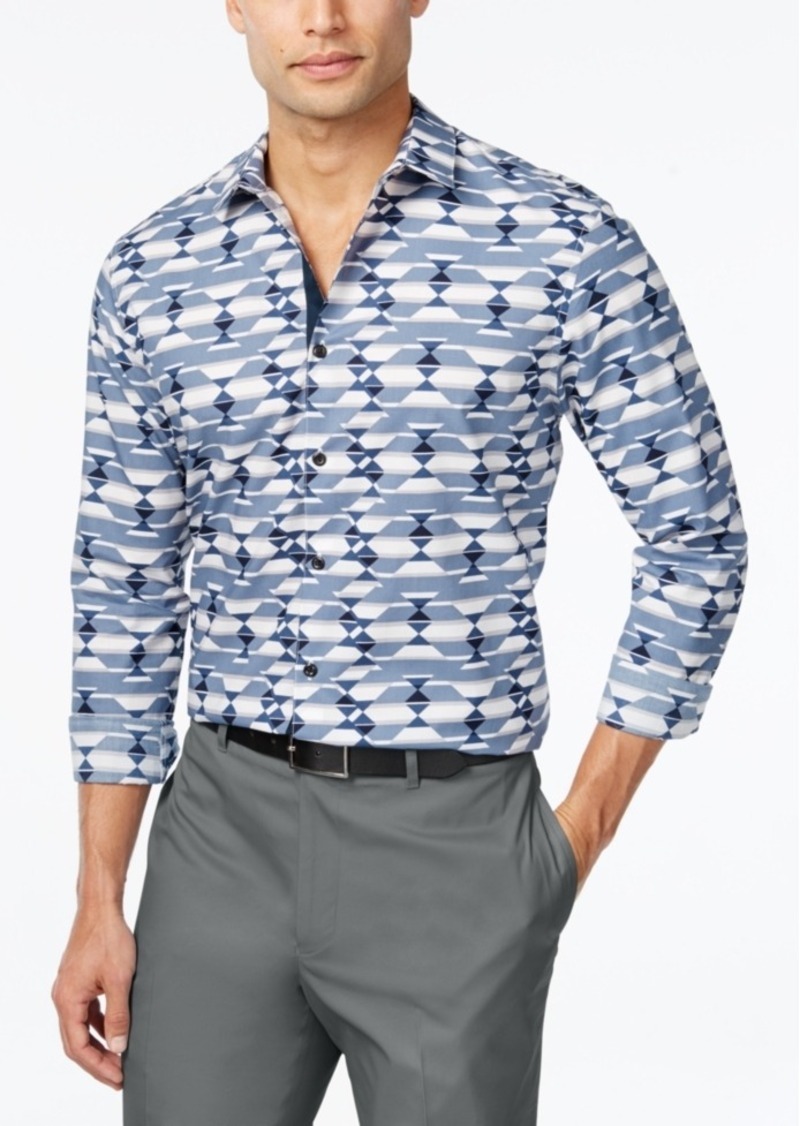 Inc International Concepts Men's Scatter Geo-Print Long-Sleeve Shirt, Only at Macy's