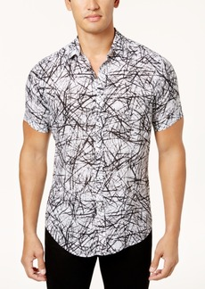 INC I.n.c. Men's Scratch-Print Shirt, Created for Macy's