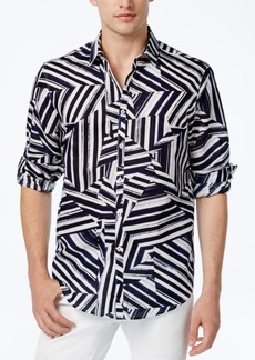 INC I.n.c. Men's Shattered Abstract-Print Shirt, Created for Macy's
