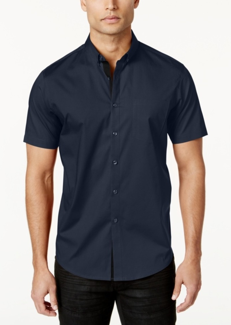 INC I.n.c. Men's Short Sleeve Stretch Shirt, Created for Macy's