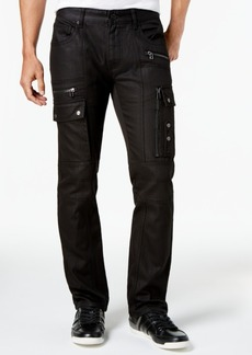 INC I.n.c. Men's Slim-Fit Stretch Black Cargo Jeans, Created for Macy's