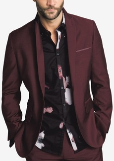 INC I.n.c. Men's Slim-Fit Burgundy Blazer, Created for Macy's