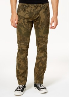 Inc Men's Slim-Fit Stretch Camo Moto Jeans, Created for Macy's