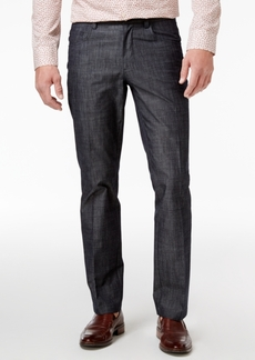 INC I.n.c. Men's Slim-Fit Chambray Cotton Pants, Created for Macy's
