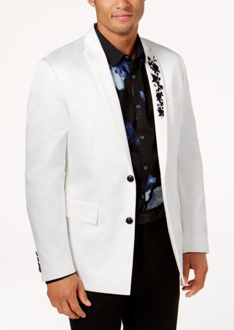aa6f7cc9f14f INC Inc International Concepts Men s Slim-Fit Embroidered Blazer ...