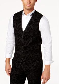 INC I.n.c. Men's Slim-Fit Flocked Paisley Vest, Created for Macy's