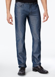 INC I.n.c. Men's Slim Straight Fit Navy Chambray Jeans, Created for Macy's