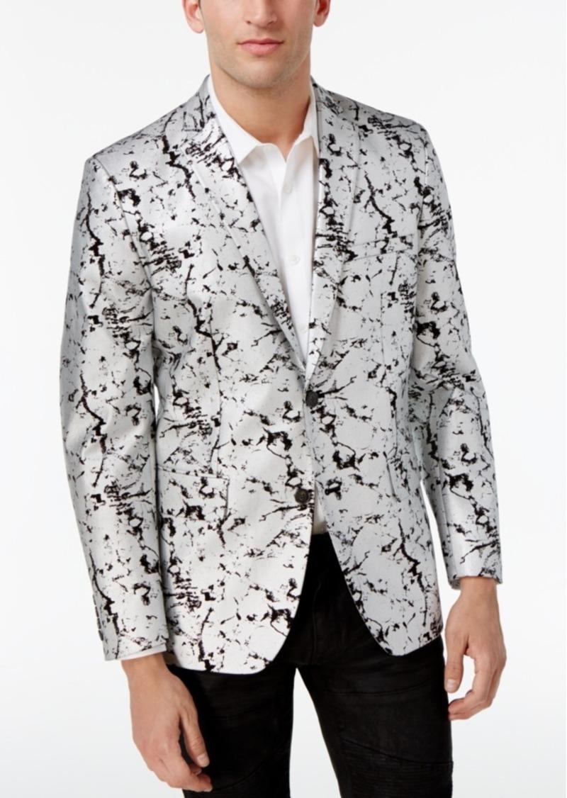 39b4263aafa7 INC Inc International Concepts Men s Slim-Fit Silver Foil Blazer ...