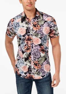 INC I.n.c. Men's Snap-Front Floral Shirt, Created for Macy's